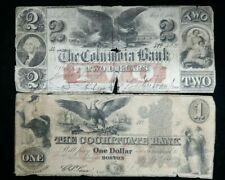 Lot of (2) Obsolete Bank Notes