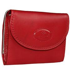 Damen Leder Börse Geldbörse Rot Lederbörse Portemonnaie klein Marke: Dolphin