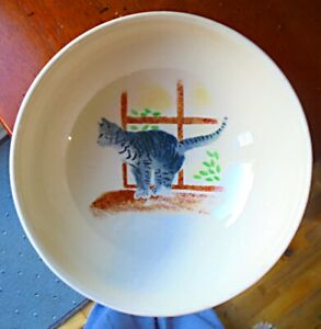 """JANE & STEPHEN BAUGHAN STUDIO ART POTTERY """"CAT & MOUSE"""" BOWL. PERFECT CONDITION."""