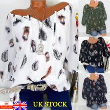 Plus Size Women V Neck Baggy T Shirt Tops Summer Casual Retro  Blouse Size 6-22