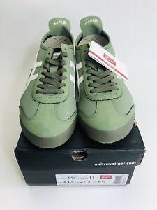 Asics Onitsuka Tiger Unisex Mexico 66 Men's 9.5 Shoes Mantle Green/ Cream