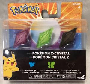 Pokémon Z-Crystals 3 Pack (Ghostium Z, Buginium Z, Darkinium Z) - BRAND NEW