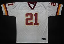 Deion Sanders Washington Redskins NFL Vtg Puma Jersey White Size XL Away