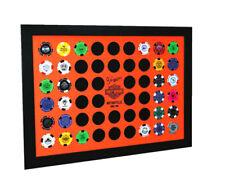 Harley-Davidson® Collectors 52 Orange & Black Poker Chip Wood Wall Frame 6952D
