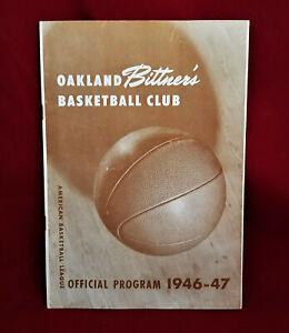 1946 1947 OAKLAND BITTNER'S Basketball Club Program vs San Diego Dons