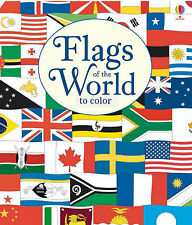 Usborne Flags of the World To Color (pb)  flags of every nation NEW