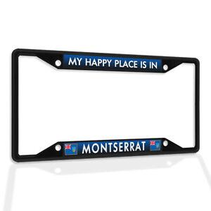 Metal License Plate Frame Vinyl Insert My Happy Place Is in Montserrat