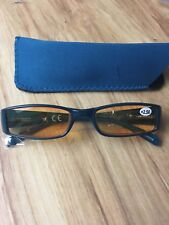 Ladies tinted readers teal with matching case 2.5 strength