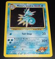 Misty's Seadra 9/132 PreRelease Promo Gym Heroes Holo NEAR MINT Pokemon Card