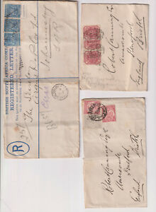 South Africa / Transvaal / postmarks galore, OFS, COGH, 3 covers etc (C52)