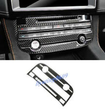 Real Carbon Fiber Multimedia Button Frame Trim For Jaguar F-Pace X761 2016-2018