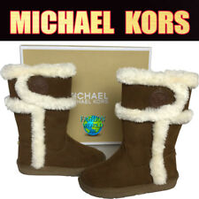 MICHAEL KORS TODDLER SIZE 7 LIL ALINA WINTER BOOTS CAMEL BROWN