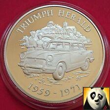 2009 ALDERNEY £ 5 cinque STERLINE BRITISH Motorcar Triumph Herald SILVER PROOF COIN