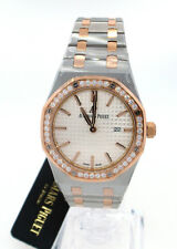 Audemars Piguet Royal Oak Ladies Steel & Rose Gold Diamond Watch 67651sr Quartz