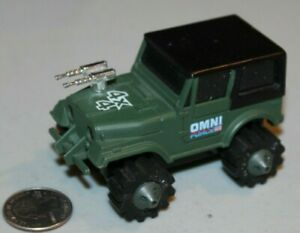Vintage WORKING 1981 Rough Rider Stompers Omni Force Military Army Jeep LIGHTS