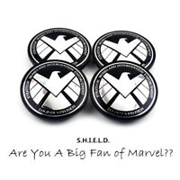 4x 68mm Marvel's SHIELD Nabendeckel Felgendeckel
