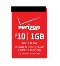 VERIZON WIRELESS  Prepaid $10 Refill Top-Up For Data  , AIR TIME  RECHARGE