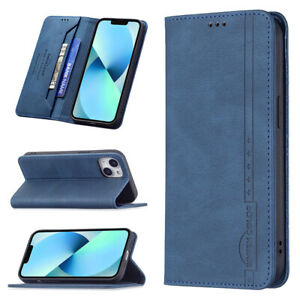 For iPhone Retro Wallet Purse Card Holder RFID Blocking Shockproof Case Cover