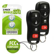 2 Replacement For 2002 2003 2004 2005 2006 Nissan Altima Maxima Key Fob Remote