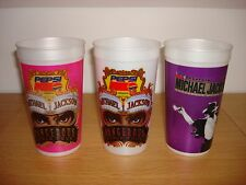Michael Jackson 1993 Dangerous World Tour 3 Mexican Mexico Pepsi Cups Mega Rare