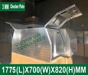 1780*700*820mm Heavy duty Aluminium Tool Boxes Half Open door Trailer Truck Ute