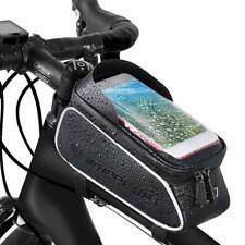 Bicycle Bag Waterproof Touch Screen Bike Front Frame Tube Cycling Phone Holder