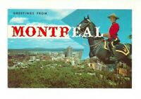 RCMP, ROYAL CANADIAN MOUNTED POLICE, MONTREAL, QUEBEC, CANADA CHROME POSTCARD