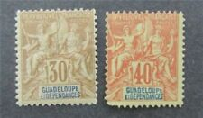 nystamps French Guadeloupe Stamp # 39.40 Mint OG H $48   A9y3048