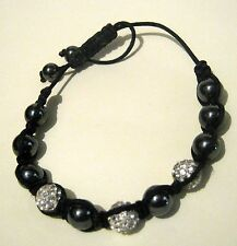 Great Friendship style bracelet with metallic & silver tone feature beads chic