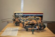 Vintage 1986 GI Joe Tomahawk Helicopter With Box And Pilot Mostly Complete