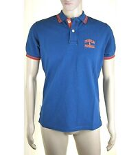 Polo Maglia Uomo FRANKLIN & MARSHALL T-Shirt Made in Italy Blu L040 Tg M