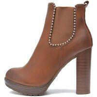 Damen Stiefeletten Plateau Chelsea Ankle Boots High Heels Profil Sohle Absatz