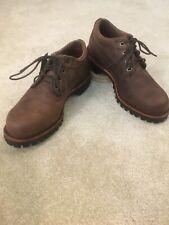 LL Bean Katahdin Iron Works Brown Oxford Shoes Mens 7.5 D Made in USA Chippewa