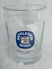 Rare Bethlehem Steel Mines Marion-Barbour Division Drinking Glass Pencil Holder