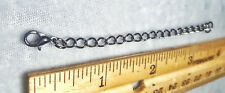 """3.5"""" Necklace bracelet Chain Extender Extension bronze silver gold copper black"""