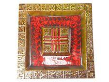 Giant Mid Century California USA 740 Art Pottery Ashtray Abstract Square