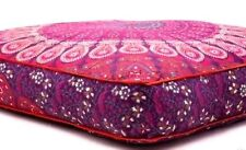 Indian 35X35 Large Pouf Cover  Mandala Floor Pillow Ottoman Dog Bed Outddor AAA