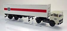 """Brekina 81042 Mercedes Benz  LPS 1620 Sattelzug mit 40ft-Container der """" DB """""""