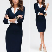 Sexy Womens Bodycon Party Evening Cocktail Formal Office Pencil Slim Midi Dress