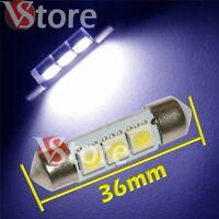 2 LED Siluro 36mm 3 SMD BIANCO Lampade Luci Xenon Lampadine Interno/Targa 12V