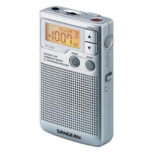 Sangean DT-250 Analogue Pocket Radio - Silver