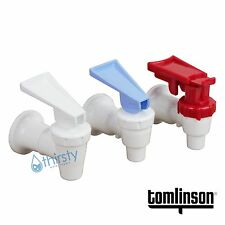 Water Cooler Spigot Faucet Tomlinson Dispenser Hot Cold Safety Lever Sunbeam 3pc