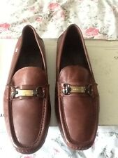 DOLCE & GABBANA D&G Brown Leather Driver Shoes / Loafers 11 / 45