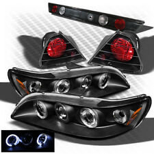 For 98-02 Accord 2dr Black Halo Pro Headlights + Altezza Style Tail Lights