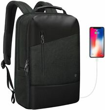 15.6 Inch Mens Travel Laptop Backpack Anti-Theft Business Work Daypack USB Port