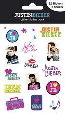 Official Justin Bieber - I Love JB - Glitter Sticker Pack