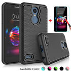 For LG K30/Premier Pro LTE/Xpression Plus Case Cover with Glass Screen Protector
