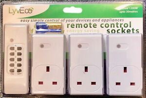 Remote Control Sockets Set Of 3 Uk Plug 3 Pin 13 Amp
