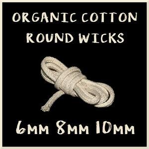 100% Cotton Round Wick for Oil Spirit Paraffin Kerosene Lamp Torch Crafts C2O