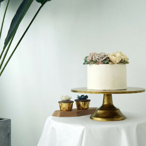 12inch Round Cake Stand Pedestal Gold Dessert Holder for Wedding Party Display